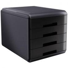 Cassettiera 4 cassetti ARDA Mydesk polistirolo e materiale infrangibile grigio/nero - 18P4PN