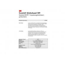 Nastro da imballo Scotch® 309 in acrilico a rumorosità ridotta 50 mm x 66 m marrone  conf. da 6 pezzi - 309