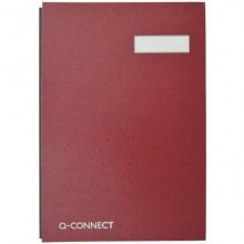 Libro firme Q-Connect 20 pagine 24x35 cm rosso KF31011