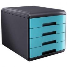 Cassettiera 4 cassetti ARDA Mydesk polistirolo e materiale infrangibile grigio/turchese - 18P4PTU