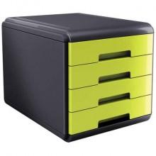 Cassettiera 4 cassetti ARDA Mydesk polistirolo e materiale infrangibile grigio/verde - 18P4PV