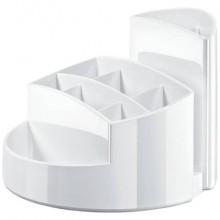 Portapenne RONDO HAN in polistirolo con 9 scomparti bianco 17460-12