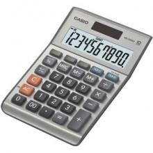 Calcolatrici da tavolo CASIO solare o batteria display 10 cifre argento - MS-100BM