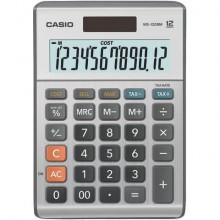 Calcolatrici da tavolo CASIO solare o batteria display 12 cifre argento - MS-120BM