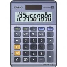 Calcolatrici da tavolo CASIO Extra Big LC solare e batteria display 10 cifre blu - MS-100TER II