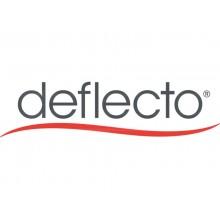 Portabrochure deflecto® A6 in plastica con base a L trasparente 684201