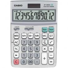Calcolatrice da tavolo CASIO solare o batteria grigio DF-120ECO