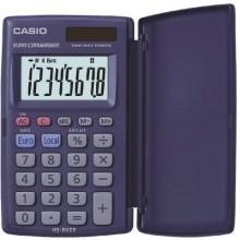 Calcolatrici scientifiche CASIO tascabile solare e batteria Blu Scuro HS-8VER