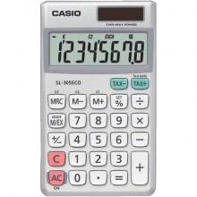 Calcolatrici scientifiche CASIO tascabile 8 cifre - solare e batteria Grigio - SL-305ECO