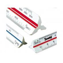 Scalimetro triangolare professionale da 30 cm TECNOSTYL in plastica a 6 scale 1:20 a 1:100 - 91/E