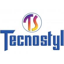 Portabiglietti da visita TECNOSTYL in vinilico da 420 scomparti in 70 pagine 19x30x2 cm nero - NC420