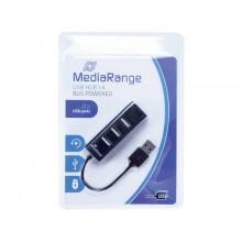 Hub Media Range USB 2.0 con quattro porte alimentato tramite porta USB MRCS502