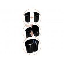 Cestino Ellypse 15L CEP in polipropilene con sistema Click per collegare due cestini nero - 1003200161
