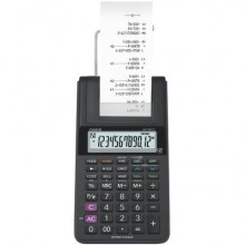 Mini calcolatrice scrivente HR-8RCE-WE con batteria, adattatore AC opzionale bianco - HR-8RCE-WE blister