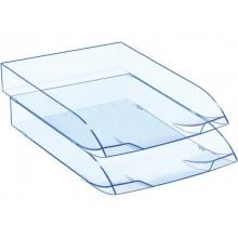 Vaschetta portacorrispondenza impilabile CEP in polistirolo con piedini in gomma antiscivolo ice blu - 1014720741