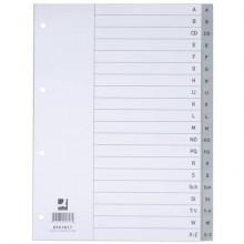 Divisori alfabetici Q-Connect A-Z 22,5x29,7 cm grigio 20 pagine KF01817