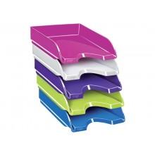 Vaschetta portacorrispondenza CepPro Gloss CEP in polistirene impilabile rosa 25,7x24,8x6,6 cm - 1002000371 (Conf.10)