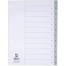 Divisore numerico Q-Connect grigio 22,5x29,7 cm ppl 1-12 KF01826