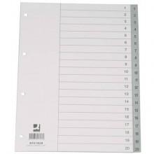 Divisore numerico Q-Connect grigio 22,5x29,7 cm ppl 1-20 KF01828