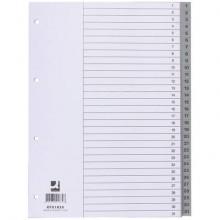 Divisore numerico Q-Connect grigio 22,5x29,7 cm ppl 1-31 KF01830