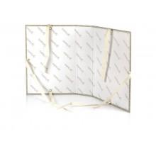 Cartella archivio Brefiocart RESISTO lacci rivettati 25x35 cm grigio dorso 12 cm  conf. 10 pezzi - RES0201-12