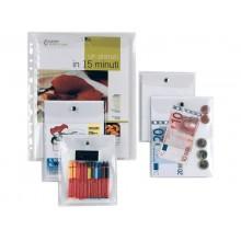 Busta con bottone Sei Rota Press 4E alto spessore 12x15,5 cm trasparente 441215