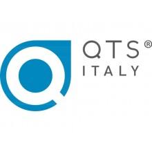Distributore di carta igienica doppio rotolo QTS 175 mm con capacità massima Ø 13 cm bianco con vetrino blu - IN-TOD/WS