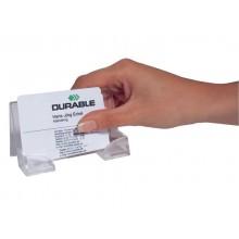 Portabiglietti da visita da scrivania DURABLE BUSINESS CARD DISPENSER acrilico trasparente fino a 50 biglietti - 241419