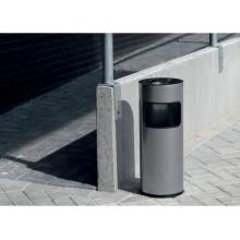 Posacenere DURABLE autoestinguente a colonna con sabbia e cestino acciaio argento metallizzato base tonda - 333223