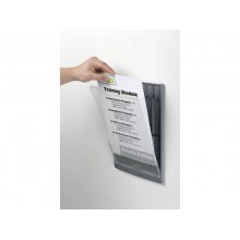 Targhe DURABLE CLICK SIGN ABS trasparente/grafite A4 210x297 mm 486737