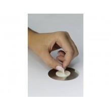 """Pittogramma adesivo """"WC donne/uomini"""" DURABLE acciaio inossidabile spazzolato argento metallizzato Ø 83 mm - 492023"""
