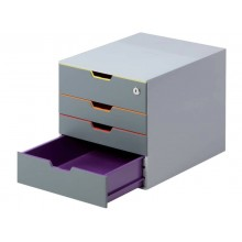 Cassettiera DURABLE VARICOLOR® SAFE 4 cassetti 32x38,5x32 cm pofili assortiti 760627