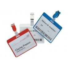 Portanomi con clip DURABLE tasca aperta trasparente inserto 60x90mm conf. 25 - 810619