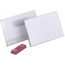 Portanomi DURABLE con magnete trasparente inserto 54x90mm conf. 25 - 811719