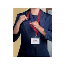 Cordoncino per portabadge DURABLE tessuto rosso 20mm x 44cm conf. 10 - 813703
