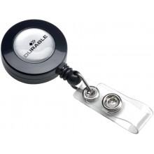 Accessori per portanomi e portabadge DURABLE chiocciole YO-YO rotonda in plastica  conf. 10 - 815258