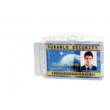 Portabadge DURABLE DUO acrilico trasparente per 2 tessere magnetiche e pass  conf. 10 - 892419