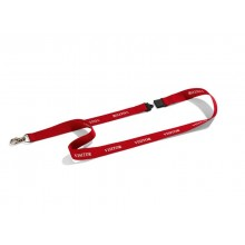 Cordoncino portabadge VISITOR DURABLE cordoncini VISITOR in tessuto rosso 20mm x 44cm  conf. da 10 - 823803
