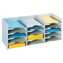 Schedario portacorrispondenza Paperflow componibile  a 15 cassetti grigio K421302