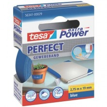 Nastro adesivo in tela tesa extra Power®Perfect plastificato 19 mm x 2,75 m blu - 56341-00029-03
