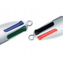 Penne a sfera a scatto BIC 4 Colours Shine Silver M 1 mm assortiti 919380