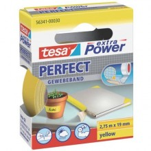 Nastro adesivo in tela tesa extra Power® Perfect plastificato 19 mm x 2,75 m giallo - 56341-00030-03