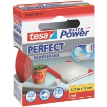 Nastro adesivo in tela tesa extra Power®Perfect plastificato 19 mm x 2,75 m rosso - 56341-00031-03