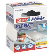 Nastro adesivo in tela tesa extra Power® Perfect 38 mm x 2,75 m bianco 56343-00035-03
