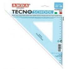 Squadra ARDA Linea Tecnoschool polistirolo termoresistente azzurro trasparente 45° cm 30 - 40130SS