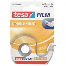 Nastri biadesivi tesa tesafilm® 12mm x 7,5m in chiocciolina con lama in metallo trasparente - 57912-00000-01
