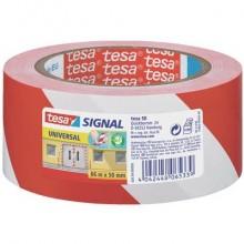 Segnaletica tesa nastro adesivo B/R in OPP con adesivo acrilico 50mm x 66m rosso-bianco - 58134-00000-00
