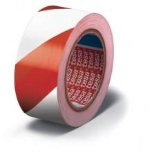 Nastro per segnalazioni in PVC tesa Tesaflex® 60760 rivestito gomma resina 50mmX33m rosso-bianco - 60760-00088-15