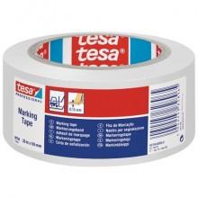 Nastro per segnalazioni in PVC tesa Tesaflex® 60760 rivestito gomma resina 50mmX33m bianco - 60760-00094-15
