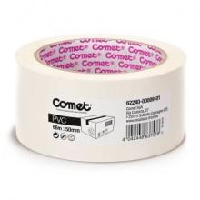 Nastri adesivi per la spedizione Comet PVC con adesivo in gomma naturale 50mm x 66m bianco - 62240-00009-01